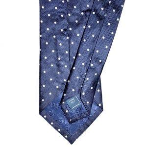 T.M.Lewin Accessories - T.M. Lewin All Silk Navy Polka Dot Tie